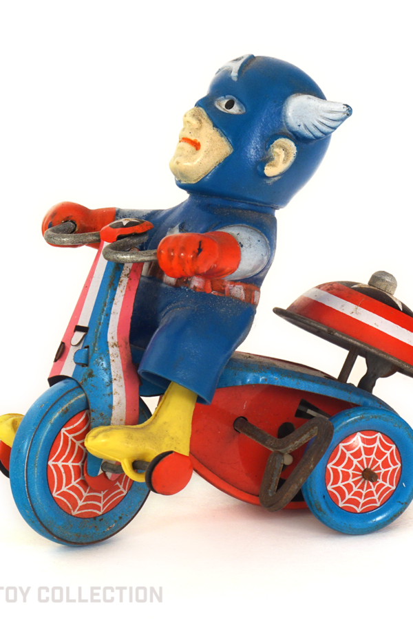 Captain America Wind-Up Tricycle, 1968