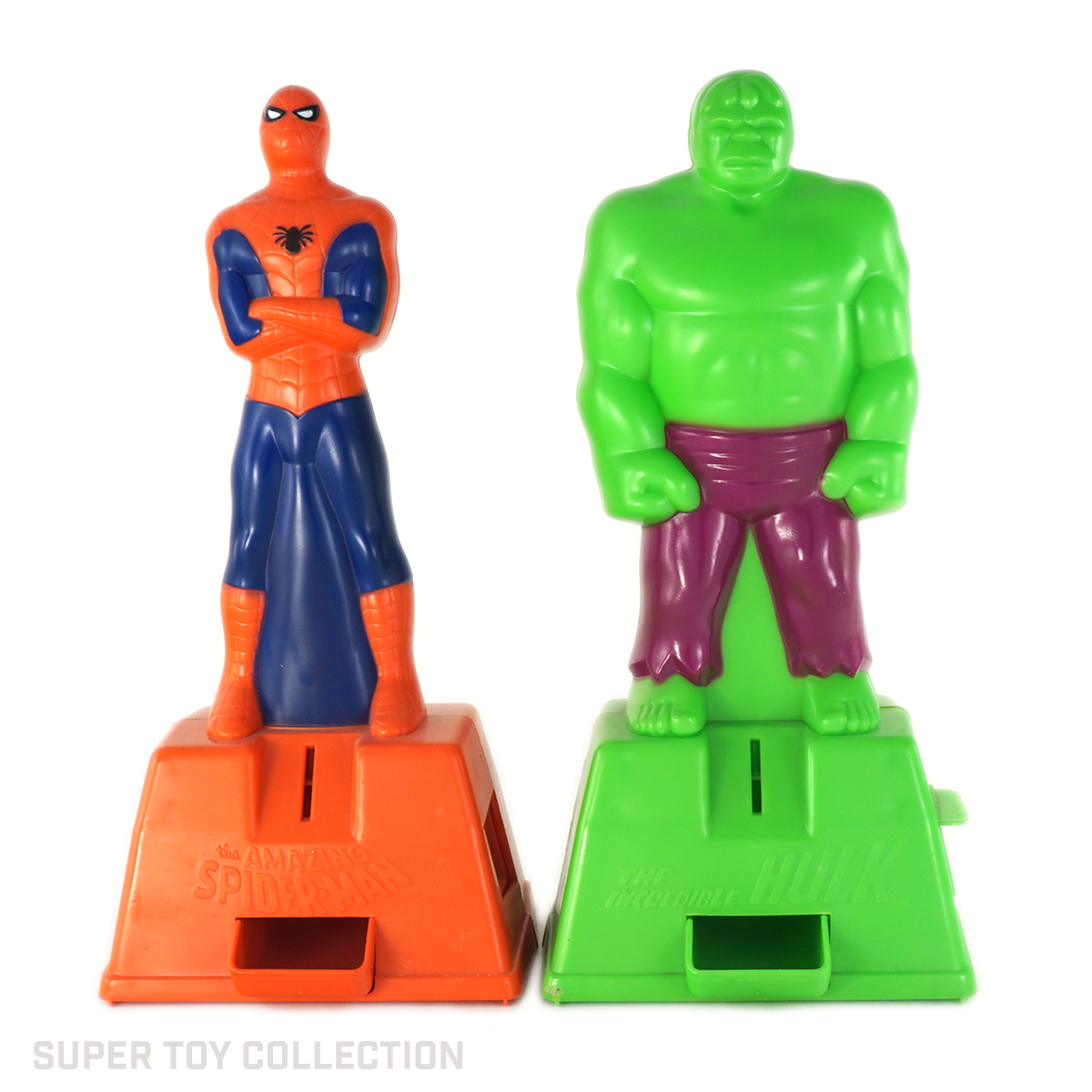hulk and spiderman gumball machine dispenser
