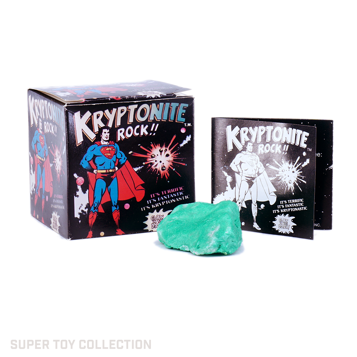 Superman Kryptonite rock toy in box